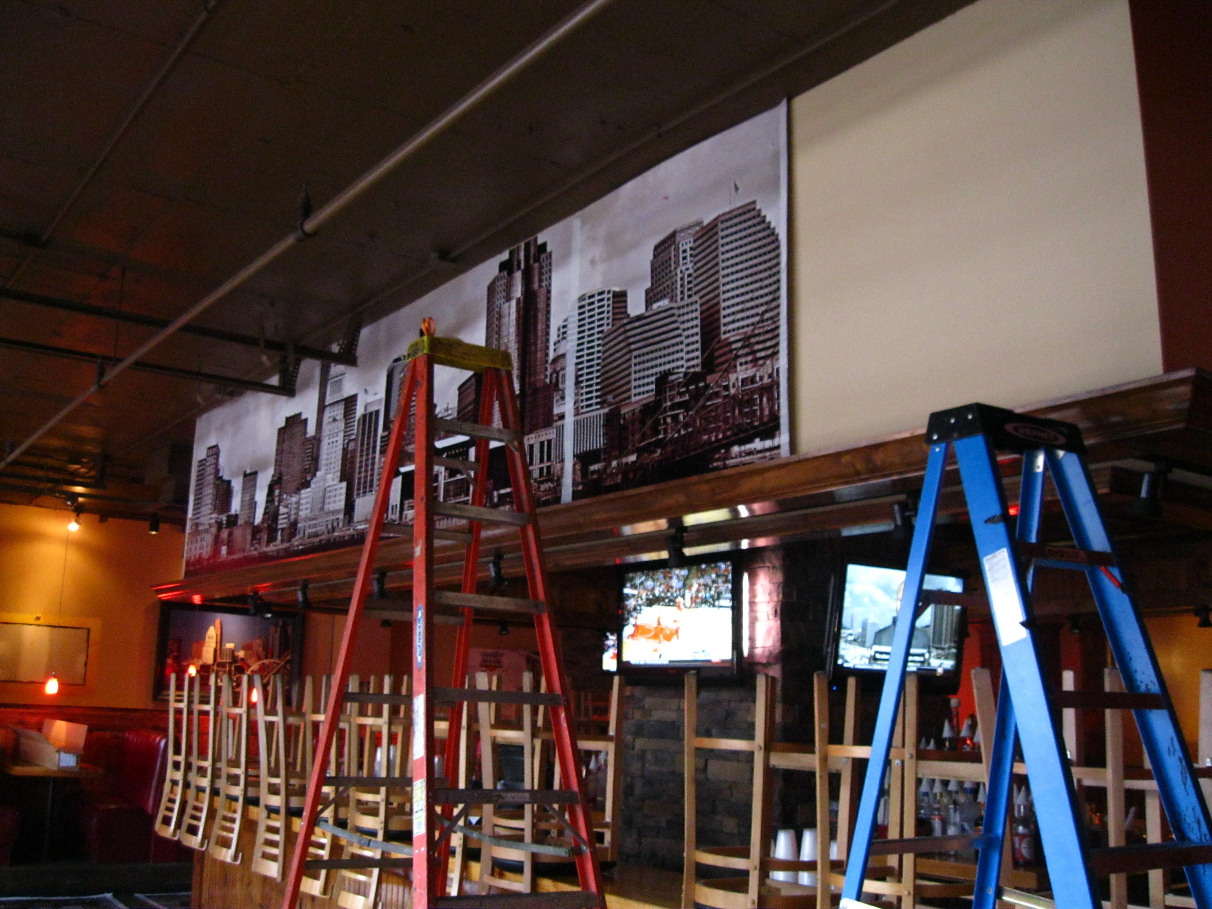 Cinci's Bar Soffet Mural In Progress