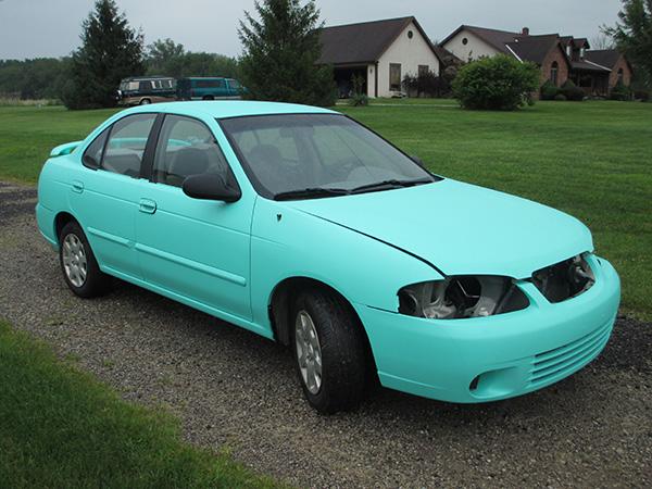 Tiffany Blue Color Change Vehicle Wrap